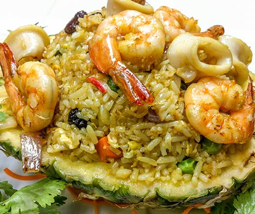 99. Pineapple Seafood Fried Rice