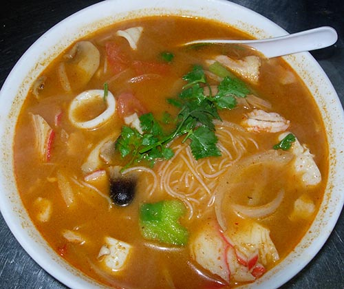 132. Seafood Tom Yum Noodle